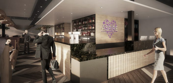 Aspire Airport Lounge 3d Visualisation