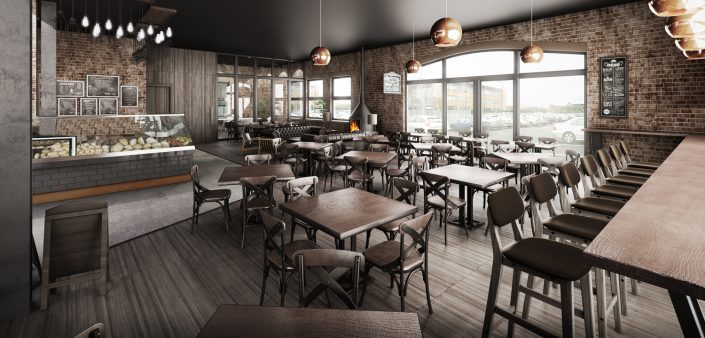 Cafe CGI 3D Visualisation Rendering