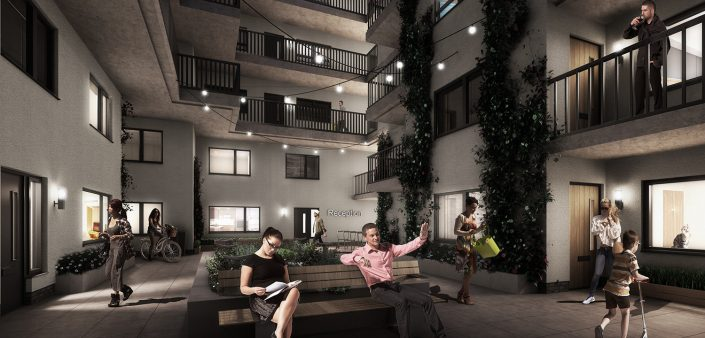 Kings Dock Apartments CGI