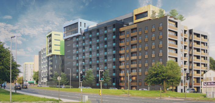 Student Accommodation Liverpool Islington 3D Visualisation