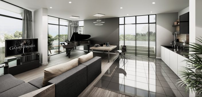 Luxury Villa Interior 3d Visualisation
