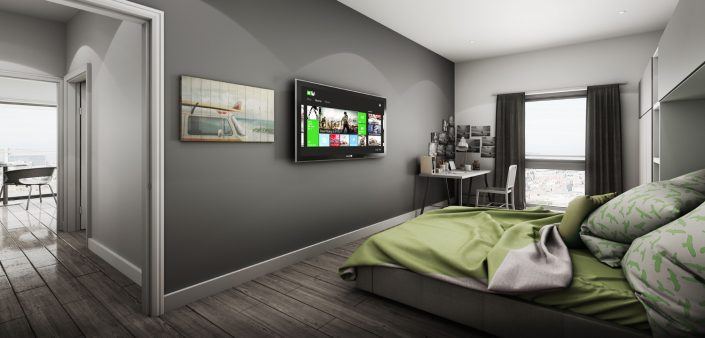 Student Apartment 3D Visualisation North West