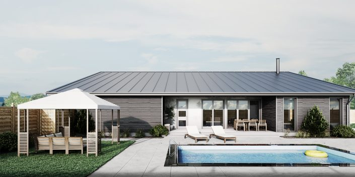 Luxury House Pool 3D Visualisation