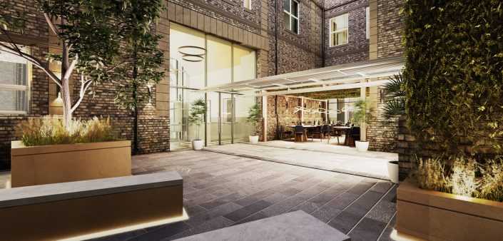 Courtyard-3D-Visualisation-North-West